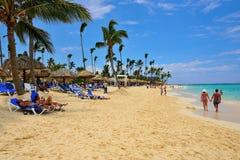 plażowego cana plażowa punta republika obrazy royalty free