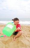 plażowego dziecka chiński bawić się Obrazy Royalty Free