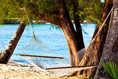 plażowego hamaka ładna słoma Zdjęcie Stock