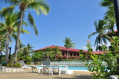 Plażowego Hotelowego kurortu Pływacki basen Zdjęcia Royalty Free