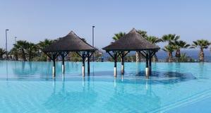 Plażowego Hotelowego kurortu Pływacki basen Obraz Stock