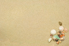 Plażowego i piasek tło Obrazy Royalty Free