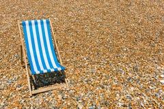 plażowego krzesła lokalizować kurortu nadmorski Fotografia Royalty Free