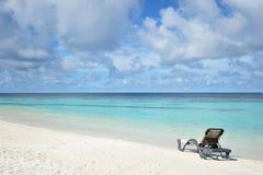 plażowego krzesła lokalizować kurortu nadmorski Obraz Stock