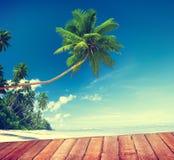 Plażowego lato relaksu sceny Spokojny pojęcie Obrazy Royalty Free