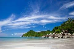 plażowego piaska tropikalny biel obrazy royalty free