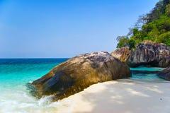 plażowego piaska tropikalny biel zdjęcie royalty free