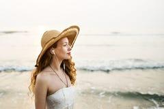 Plażowego wakacje letni wakacje relaksu Podróżny pojęcie obraz stock