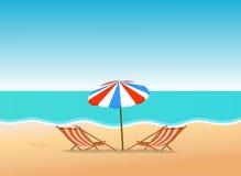 plażowej brzegowej cibory śródziemnomorska piaska kamieni lato kipiel Zdjęcie Royalty Free
