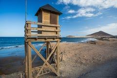 plażowej brzegowej cibory śródziemnomorska piaska kamieni lato kipiel tła kolażu wizerunków natury podróż Hiszpania, Tenerife Obrazy Royalty Free