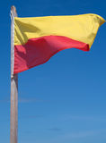 plażowej flaga dopłynięcie Zdjęcia Royalty Free