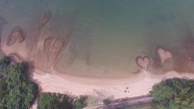 plażowej kierowej wyspy Italy kamienny stromboli zbiory wideo