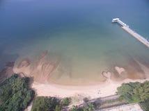 plażowej kierowej wyspy Italy kamienny stromboli zdjęcia stock