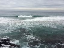 Plażowej ocean fala wody świeży spirytusowy zimno Obrazy Stock