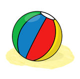 Plażowej piłki ilustracja Zdjęcia Stock
