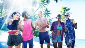 Plażowej relaks Pięknej Urlopowej podróży Tropikalny pojęcie obrazy stock