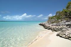 plażowej wyspy skalista pończocha Obraz Royalty Free