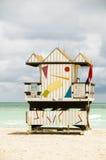 plażowi budy ratownika Miami południe Obrazy Royalty Free