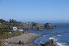 Plażowi domy fotografia stock