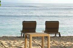 plażowi dwa krzesła Fotografia Royalty Free
