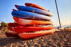 plażowi kajaki kolor zdjęcie stock