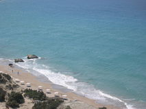 plażowi kosy Greece zdjęcie royalty free