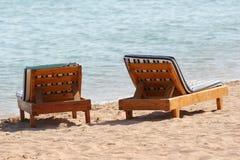 plażowi krzesła Zdjęcia Stock