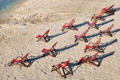 plażowi krzesła zdjęcia royalty free
