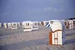 Plażowi krzesła Fotografia Stock