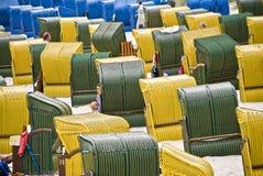 Plażowi krzesła Obrazy Royalty Free
