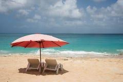 Plażowi loungers przy Baie szminką 2 Obraz Royalty Free