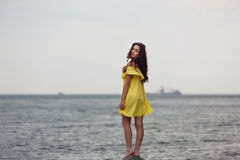 plażowi młodych dziewcząt obraz stock