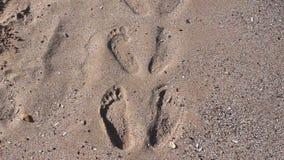 plażowi odciski stóp zdjęcie wideo