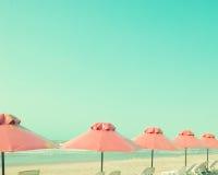 Plażowi parasole Fotografia Royalty Free