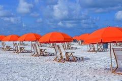 Plażowi parasole obrazy stock