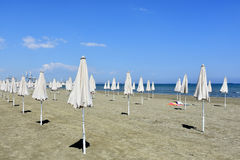 plażowi parasols obrazy royalty free