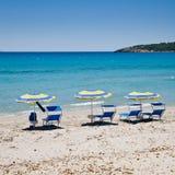 plażowi parasols Sardinia zdjęcie stock