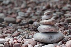 plażowi piramid kamienie Zdjęcia Royalty Free