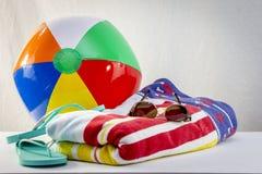 Plażowi ręczniki Fotografia Royalty Free