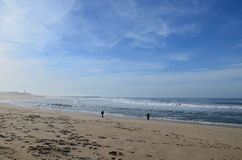 plażowi rybacy obraz stock