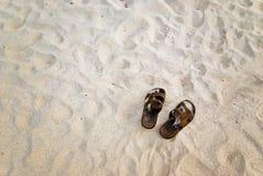 plażowi sandały Fotografia Stock