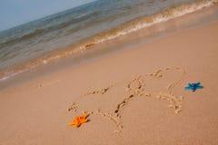 plażowi składy sand skorupy Zdjęcia Royalty Free