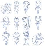 plażowi szczęśliwi dzieciaki Obraz Royalty Free