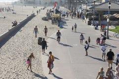 plażowi szczęśliwi ludzie Obraz Royalty Free