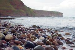 plażowi teraźniejsi kamienie Obrazy Stock