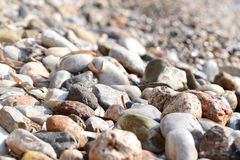 plażowi teraźniejsi kamienie Zdjęcia Royalty Free