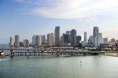plażowi wcześni Miami ranek południe fotografia stock