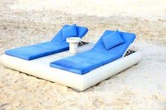 plażowy łóżko Obrazy Stock