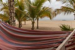 Plażowy łóżko z dennym widokiem Obrazy Stock