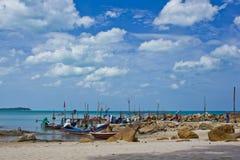 plażowy łódkowaty połów Fotografia Royalty Free